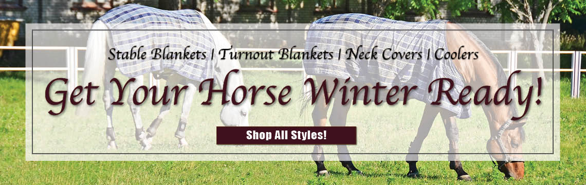 Stable Blankets, Turnout Blankets, Neck Covers and Coolors to get your horse ready for winter weather.