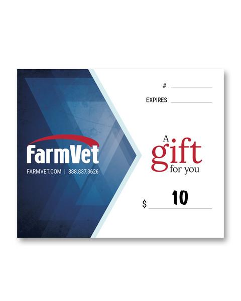 $10 FarmVet Gift Certificate