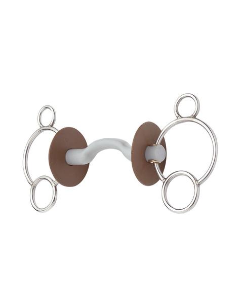 Beris Three Ring Tongue Port Snaffle