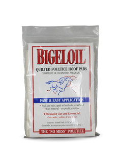 Bigeloil Quilted Poultice Hoof Pads- 4-pack