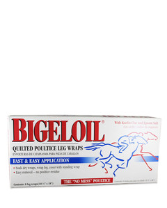 Bigeloil Quilted Poultice Leg Wraps 8 Pack