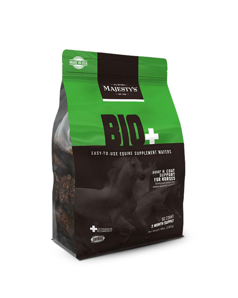 Bio+ Wafers Hoof and Coat Supplement for Horses by Majesty's