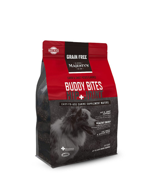Buddy Bites Hip + Joint Grain-Free Wafers Supplement for Dogs by Majesty's