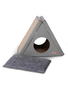 Creative Kitty A-Frame Playhouse multi-level cat scratching post