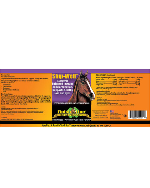Ship-Well immune support supplement for horses by Finish Line