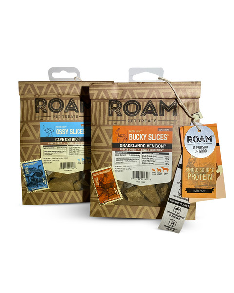 ROAM Freeze-Dried Slices for dogs
