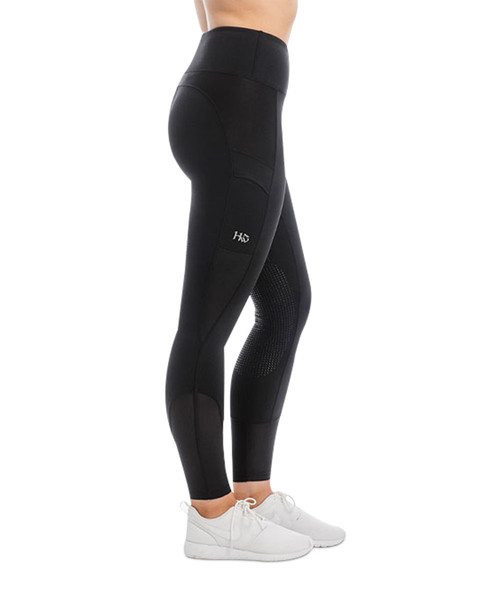 Black Silicon Grip Riding Tights by Horseware