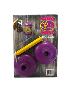 Uncle Jimmy's Licky Thing Holder with Pin toy for horses
