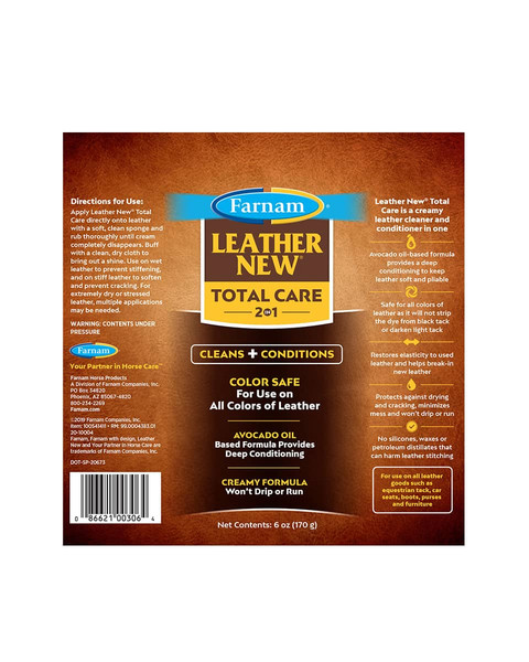 Leather New Total Care 2-in-1 leather cleaner from Farnam