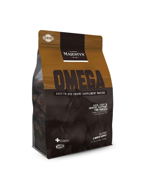 Omega Wafers Skin, Coat, and Immune Support Supplement for Horses by Majesty's