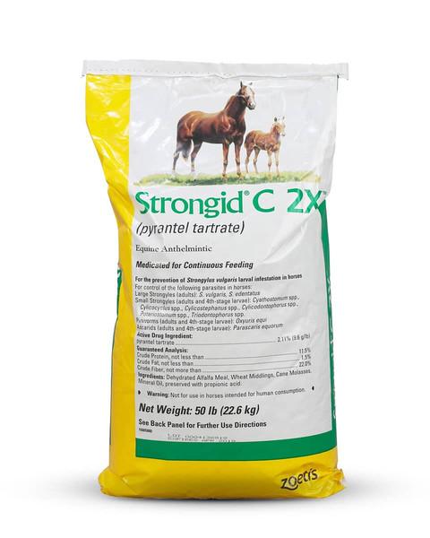Strongid C 2X equine dewormer pellet