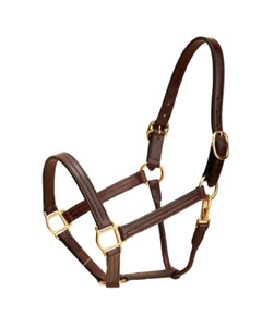 Triple Stitch Leather Halter