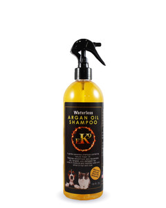 Waterless Argan oil shampoo for pets